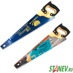 Ножовка по дереву ДР 500 мм каленный зуб деревянная рукоять с накладкой X-PERT 6-48