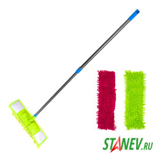Швабра для пола с телескопической ручкой и насадкой лапша MILA SVD-328 10-60