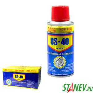 Смазка универсальная BS-40 аналог WD-40s аэрозоль 100 мл 48-192