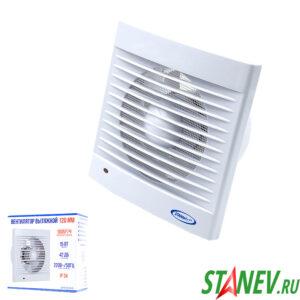 Бытовой вентилятор для вытяжки в ванной в туалет 120мм 15Вт белый Standart Luxe 1-20