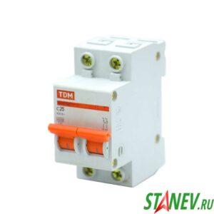 Автоматический выключатель ВА47-63 2Р 25А ТДМ 6-60