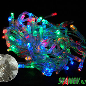 Гирлянда нить комнатная разноцветная 120 LED 8м 8 режимов 1-100