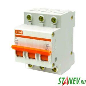 Автоматический выключатель ВА47-63 3Р 32А ТДМ 4-40