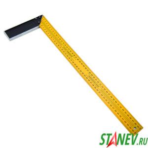 Уголок строительный 90 градусов 500 мм металлический желтый 12-120