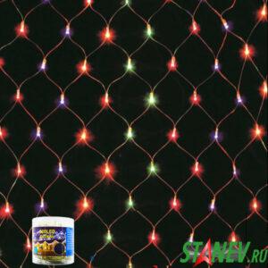 Гирлянда комнатная СЕТКА 320 LED RGB с контроллером 1-60