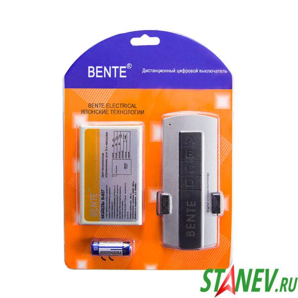 Дистанционно управляемый выключатель-пульт люстр 3 канала BENTE 1-50