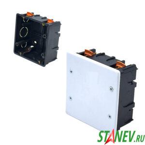 СП Коробка разветвительная 100х100х50 для гипсокартона с крышкой IP20 PlastElectro 10-54