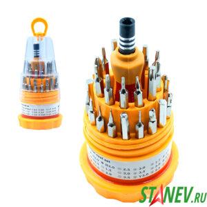 Наборная отвертка с набором прецизионных бит IRON SPIDER 6036С 30 насадок в стакане 20-120