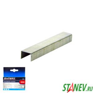 Скобы для мебельного степлера 53 тип 8 мм закаленные 1000 шт в пачке X-PERT 20-200