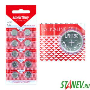 Батарейка Smart AG10 Alkaline 1.5V LR1130 круглая 10-100