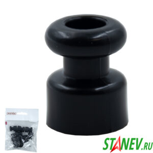 Изолятор для проводки кабеля диам 17,5*22,5мм ЧЕРНЫЙ BYLECTRICA 10-500
