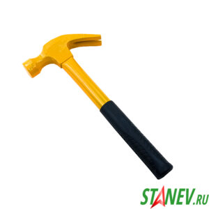 Молоток цельнометаллический 500гр резиновая ручка MASTER 1-48