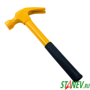 Молоток цельнометаллический 750гр резиновая ручка MASTER 1-36