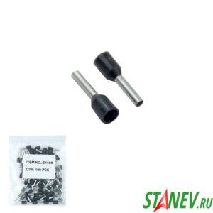 Втулочный наконечник НШВИ 1,5 черный 100-1000