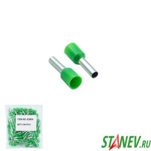 Втулочный наконечник НШВИ 2,5 зеленый 100-1000