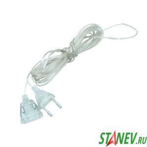 Удлинитель для гирлянд в прозрачном силиконе 5 метров 10-500