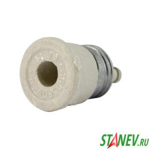 Электрическая пробка керамическая 10А с плавкой вставкой Е27Г1-10-380 УЗ 50-500