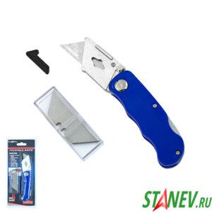 Нож для гипсокартона складной YY-102 с набором из 5-и лезвий ExProfil 12-144